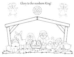 Nativity Coloring Pages For Preschool Dpalaw