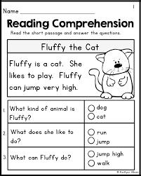 Free Reading Comprehension Worksheets For Kindergarten ...