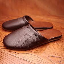 details about comfortable mens slippers faux leather house shoes indoor flats slippers