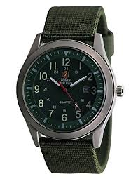 zeiger military mens watches analogue quartz date watch for man zeiger military mens watches analogue quartz date watch for man army green nylon band sport wristwatch