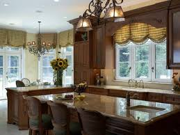 Kitchen Window Treatments Large Kitchen Window Treatment Ideas With Dining Table And Diy