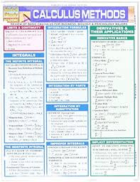 Method Study Charts And Diagrams Calculus Methods Study Chart
