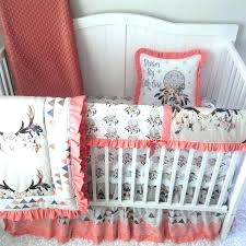 girly crib bedding lace mini cribs sets baby girl tan peach c blue skull triangles with