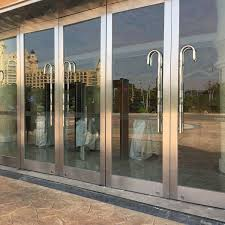 china stainless steel tempered glass commercial entry glass door china metal door glass door