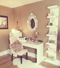 home accessory the white draws on the left the white fur rug makeup table home  decor
