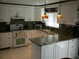 image of white kitchen cabinets dark granite antique with countertops