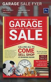 Free Community Yard Sale Flyer Te New On Garage Template