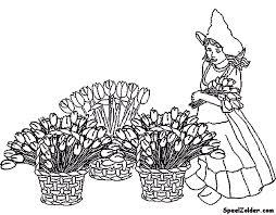 Nederland Kleurplaten Bloemenmeisje