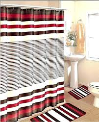 beautiful bath mat and shower curtain sets bathroom shower curtain sets amazing red white line bath