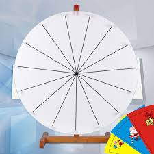 editable 24 trade show prize wheel diy spin game carnival dry erase