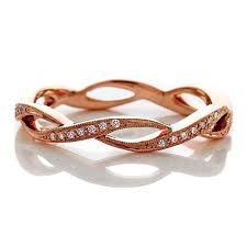 infinity diamond wedding band. 18k rose gold 3mm infinity diamond wedding ring infinity diamond wedding band