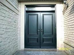 double exterior doors executive front entry fiberglass smooth solid for shed execut