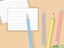 Make Index Cards 3 Ways To Make And Organize Vocabulary Index Cards Wikihow