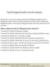 Bilingual Resume