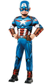 Awesome Deluxe Captain America Costume Costume Kids