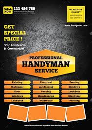 free handyman flyer template free handyman flyer templates latter example template