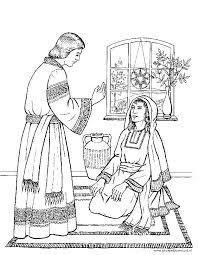 Bijbelse Kleurplaten Kerst De Engel Gabiel Bij Maria Gkv