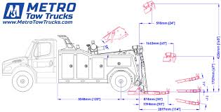 metro tow trucks int 16 wrecker towing truck for sale at Tow Truck Diagram