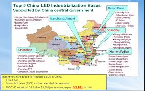 china creating a domestic led supply chain