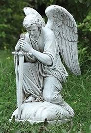garden angel statues. RM001 Garden Collection, Kneeling Male Angel Statue, 13.25\ Statues D