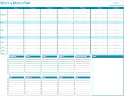 weekly menue planner numbers weekly menu planner template free iwork templates
