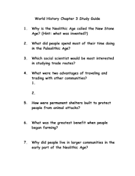 pros and cons of the neolithic revolution world history chapter 2 study guide