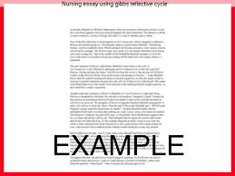 nursing essay using gibbs reflective cycle essay help nursing essay using gibbs reflective cycle are examples of the work produced by our professional