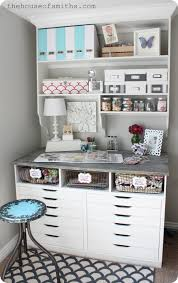 diy office shelves. I Looked Around, Trying To Find Shelves That Were Functional, Cute And Would Fit My Space Perfectly, But Came Up Short. So, In True DIY FashionWe Built Diy Office