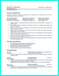 Pmp Resume Example Best of Nice Simple Construction Superintendent Resume Example To Get