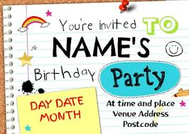 Personalised Birthday Invitations For Kids Personalised Invitations Kids Party Invitations Funky Pigeon