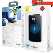 Pin sạc dự phòng không dây 8000 mAh Baseus cho iPhoneX (LCD Qi Wireless  Charger, 2A, Power Bank) - LV197 - Pin sạc dự phòng di động Nhãn hàng No  Brand