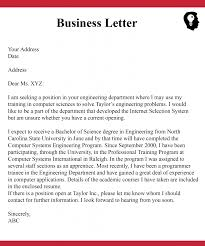 Official Mails Sample Way To Write Business Letter With Example Sample Format