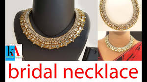 How To Make Designer Necklace How To Make Designer Kundan Choker Necklace At Home Latest Jewellery Party Wear Necklace