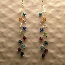 multi colored crystal chandelier crystal chandelier earrings jewels by multi colored crystal chandelier earrings clear crystal