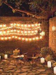 design outstanding how to decorate a brick wall outside appalling string light decorative outdoor idea exterior