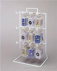 Keychain Display Stand Cool Counter Top Wire Jewelry Display Rack Black Keychain Hook Display