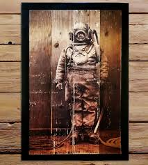 Reclaimed Wood Art Reclaimed Wood Diver Wall Art Features Reclaimed Wood Shipyard