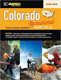 Colorado Mileage Chart Colorado Recreational Travel Atlas Kappa Map Group