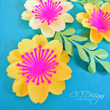 Paper Flower Designs Mary Jane Small Paper Flower Template