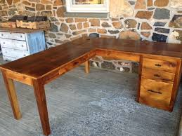 ... Rustic L Shaped Computer Desk Captivating How To Build An L Shaped Desk  76 For Your