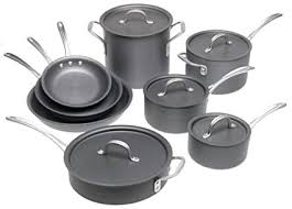 calphalon commercial hard anodized. Beautiful Commercial Calphalon Commercial HardAnodized 13Piece Cookware Set On Hard Anodized A