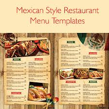 Resturant Menu Template 21 Best Selling Mexican Style Restaurant Menu Templates