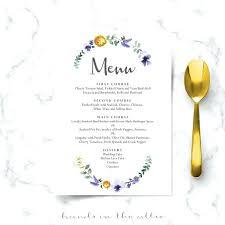 Wedding Buffet Menu Cards Grainsdor Com