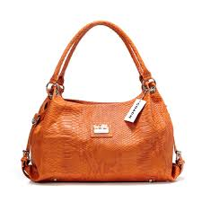 Coach In Embossed Medium Orange Satchels DFP