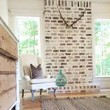 fireplace brick option maybe whitewash instead of painting it