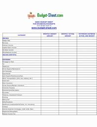 Monthly Household Expense Form Example Of Personal Budget Spreadsheet Excel Monthly Expense Sheet