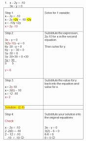 systems of equations elimination method worksheet luxury solving systems using substitution practice problems