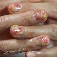 ボタニカルキャンドルネイル彡ネオンピンク Nail Pleasure Healing