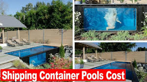 Used Shipping Containers For Sale Prices Look This Shipping Container Pools Cost Youtube