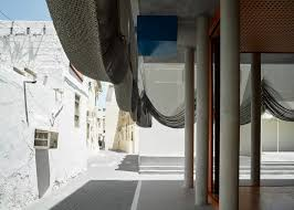 office drapes. Beautiful Office Office Kersten Geers David Van Severen Drapes Mesh Curtains Over Bahrain  Music Centre With Drapes